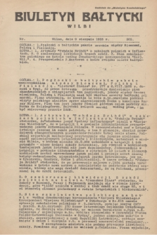 """Biuletyn Bałtycki Wilbi : dodatek do """"Biuletynu Kowieńskiego"""". 1935, nr 303 (9 sierpnia)"""