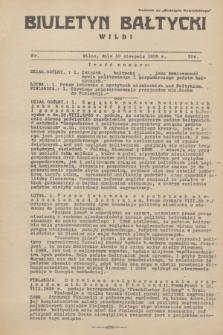 """Biuletyn Bałtycki Wilbi : dodatek do """"Biuletynu Kowieńskiego"""". 1935, nr 304 (10 sierpnia)"""