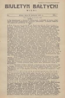 """Biuletyn Bałtycki Wilbi : dodatek do """"Biuletynu Kowieńskiego"""". 1935, nr 305 (14 sierpnia)"""