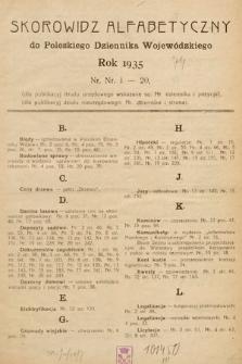 Poleski Dziennik Wojewódzki. 1935, skorowidz alfabetyczny