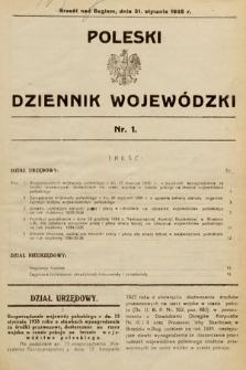 Poleski Dziennik Wojewódzki. 1935, nr1