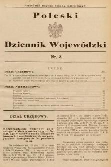 Poleski Dziennik Wojewódzki. 1935, nr3