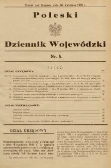 Poleski Dziennik Wojewódzki. 1935, nr5
