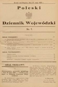 Poleski Dziennik Wojewódzki. 1935, nr7