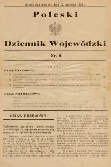 Poleski Dziennik Wojewódzki. 1935, nr8