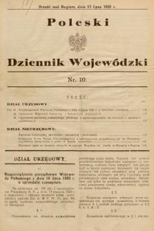Poleski Dziennik Wojewódzki. 1935, nr10