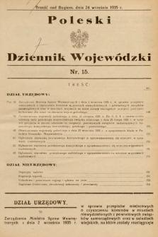 Poleski Dziennik Wojewódzki. 1935, nr15