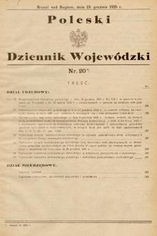 Poleski Dziennik Wojewódzki. 1935, nr20