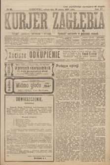 Kurjer Zagłębia : dziennik społeczny, polityczny i literacki. R.15, № 69 (20 marca 1920)