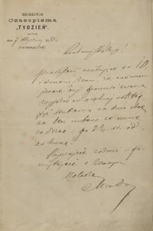 Korespondencja Walerego Przyborowskiego z roku 1880