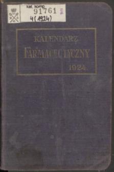 Kalendarz Farmaceutyczny : na rok 1924. R.4