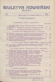Biuletyn Kowieński Wilbi. 1926, № 22 (27 stycznia)