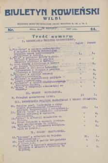 Biuletyn Kowieński Wilbi. 1927, nr 84 (30 sierpnia)