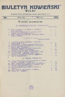 Biuletyn Kowieński Wilbi. 1928, nr 112 (29 lutego)
