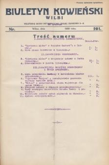 Biuletyn Kowieński Wilbi. 1929, nr 201 (20 grudnia)