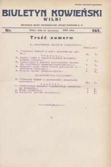Biuletyn Kowieński Wilbi. 1930, nr 262 (15 kwietnia)