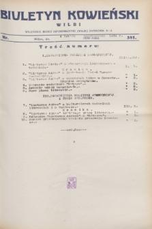 Biuletyn Kowieński Wilbi. 1931, nr 381 (4 lutego)