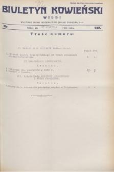 Biuletyn Kowieński Wilbi. 1931, nr 422 (17 kwietnia)