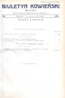 Biuletyn Kowieński Wilbi. 1931, nr 426 (22 kwietnia)