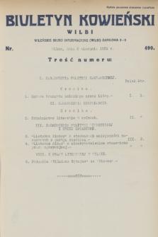 Biuletyn Kowieński Wilbi. 1931, nr 490 (8 sierpnia)