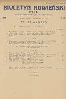 Biuletyn Kowieński Wilbi. 1931, nr 560 (21 listopada)