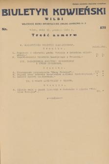 Biuletyn Kowieński Wilbi. 1931, nr 575 (15 grudnia)
