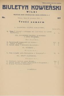 Biuletyn Kowieński Wilbi. 1931, nr 581 (28 grudnia)