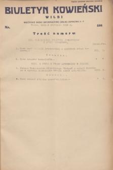 Biuletyn Kowieński Wilbi. 1932, nr 586 (9 stycznia)