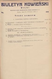 Biuletyn Kowieński Wilbi. 1932, nr 592 (18 stycznia)