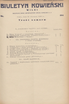 Biuletyn Kowieński Wilbi. 1932, nr 594 (20 stycznia)