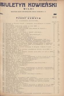 Biuletyn Kowieński Wilbi. 1932, nr 601 (30 stycznia)