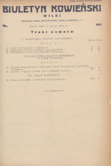 Biuletyn Kowieński Wilbi. 1932, nr 603 (4 lutego)