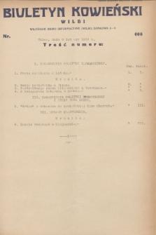 Biuletyn Kowieński Wilbi. 1932, nr 606 (9 lutego)