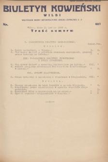Biuletyn Kowieński Wilbi. 1932, nr 607 (11 lutego)