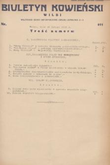 Biuletyn Kowieński Wilbi. 1932, nr 611 (16 lutego)
