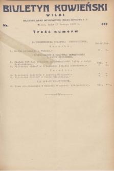 Biuletyn Kowieński Wilbi. 1932, nr 612 (17 lutego)