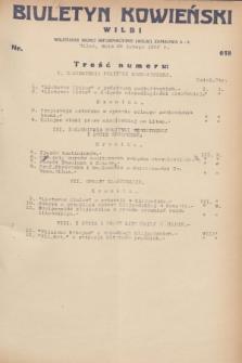 Biuletyn Kowieński Wilbi. 1932, nr 618 (26 lutego)