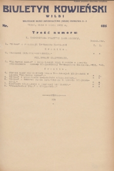 Biuletyn Kowieński Wilbi. 1932, nr 625 (9 marca)