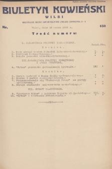 Biuletyn Kowieński Wilbi. 1932, nr 630 (16 marca)
