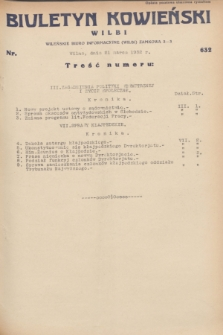Biuletyn Kowieński Wilbi. 1932, nr 632 (21 marca)