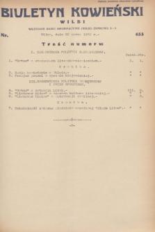 Biuletyn Kowieński Wilbi. 1932, nr 633 (22 marca)