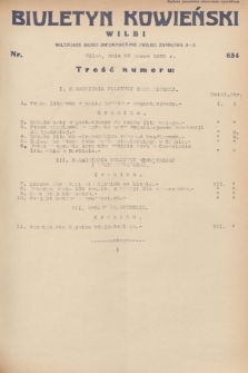 Biuletyn Kowieński Wilbi. 1932, nr 634 (23 marca)
