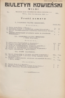 Biuletyn Kowieński Wilbi. 1932, nr 645 (15 kwietnia)