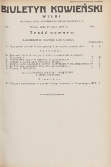 Biuletyn Kowieński Wilbi. 1932, nr 665 (17 maja)