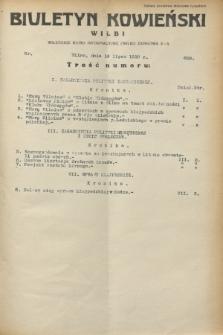 Biuletyn Kowieński Wilbi. 1932, nr 698 (16 lipca)