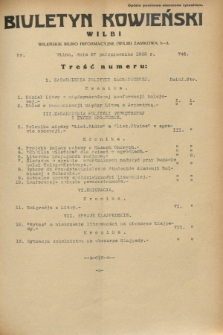 Biuletyn Kowieński Wilbi. 1932, nr 748 (27 października)