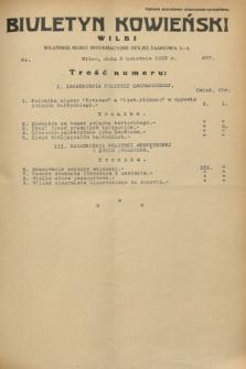 Biuletyn Kowieński Wilbi. 1933, nr 837 (3 kwietnia)