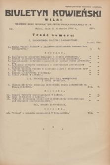 Biuletyn Kowieński Wilbi. 1933, nr 915 (31 sierpnia)