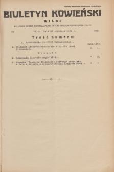 Biuletyn Kowieński Wilbi. 1934, nr 992 (22 stycznia)