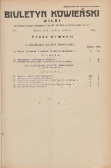 Biuletyn Kowieński Wilbi. 1934, nr 999 (1 lutego)